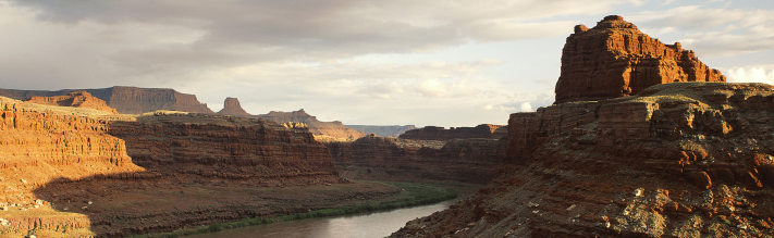 A view of the striking Colorado River. Reservoirs along the river are already ba