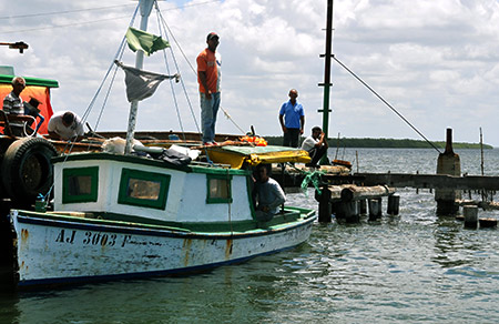 Cuban fishing boat