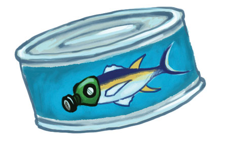 Tuna can illustration