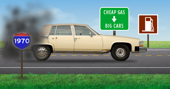 1970 — Gas was cheap, cars were big
