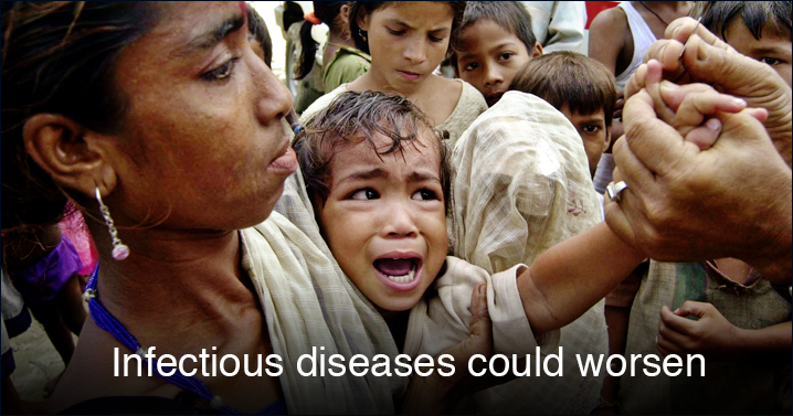 And lookout: Infectious diseases could get worse.