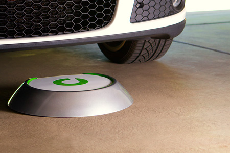 Car charging with Evatran's wireless technology