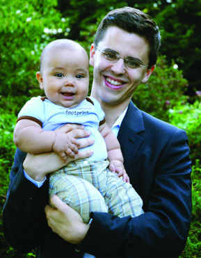 EDF Economist Gernot Wagner with his son
