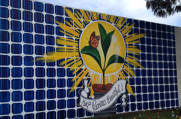 Clean energy future mural