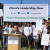 Amazon employees protest for climate leadership