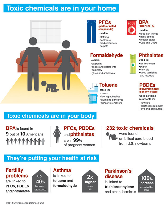 Infographic: Toxic chemicals are in your home and you