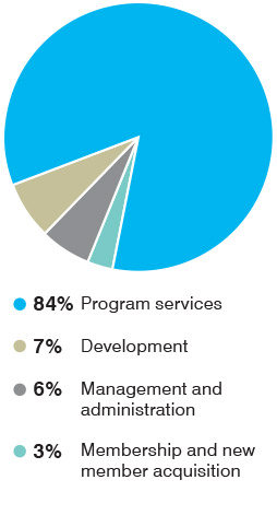 EDF expenses pie chart