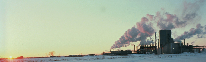 Power plant with emissions