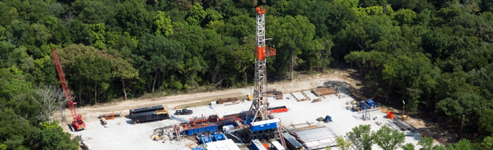 Barnett Shale drilling in North Central Texas.
