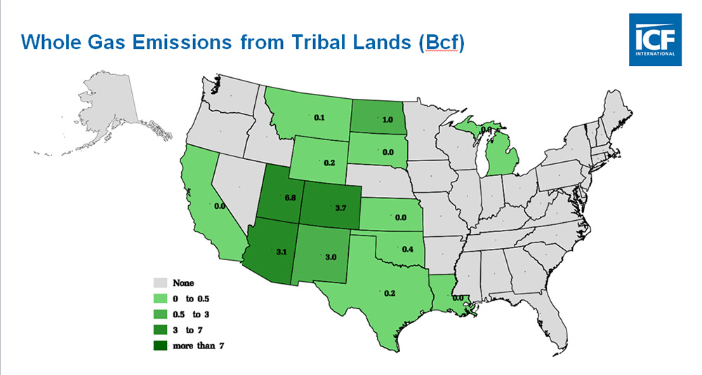 Substantial Loss Of Natural Gas On Public Lands Environmental - Us federal lands map