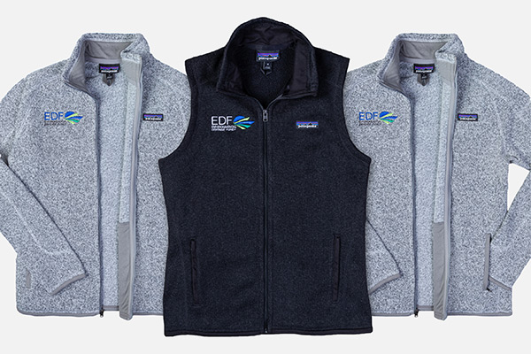 EDF zip-up sweaters and vest