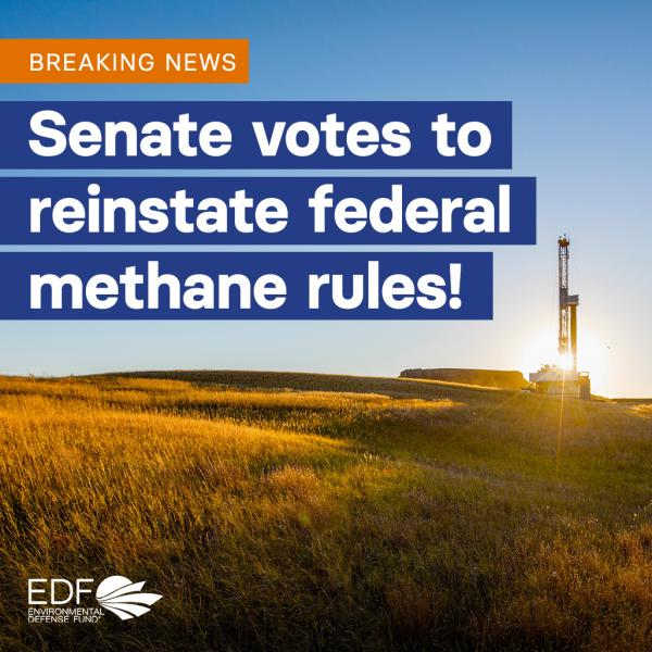 Senate votes to reinstate federal methane rules!