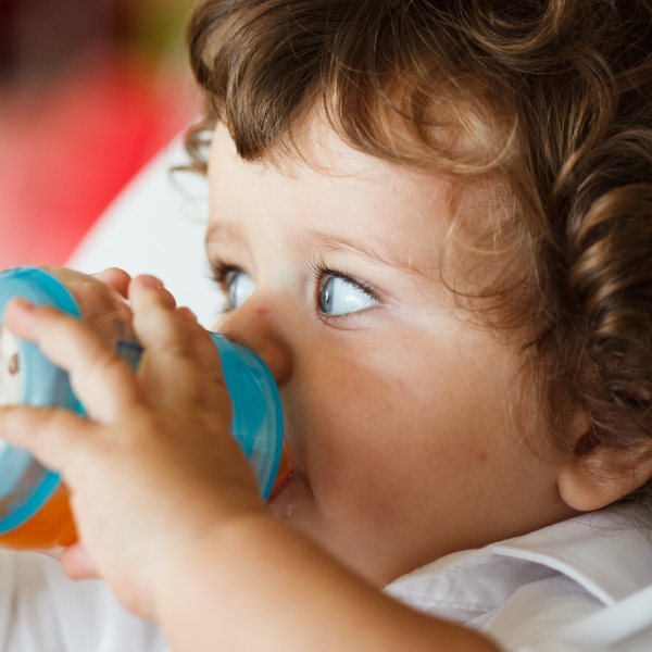 Child with sippy cup