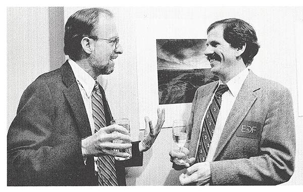 Wilson with EDF economist Dr. Dan Dudek in 1987